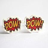 POW! Comic Book Style Cufflinks ($18)