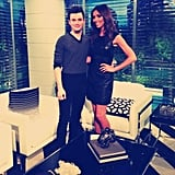 Giuliana Rancic chatted with Glee star Chris Colfer about his new role in the movie Struck by Lightning.  Source: Twitter user GiulianaRancic