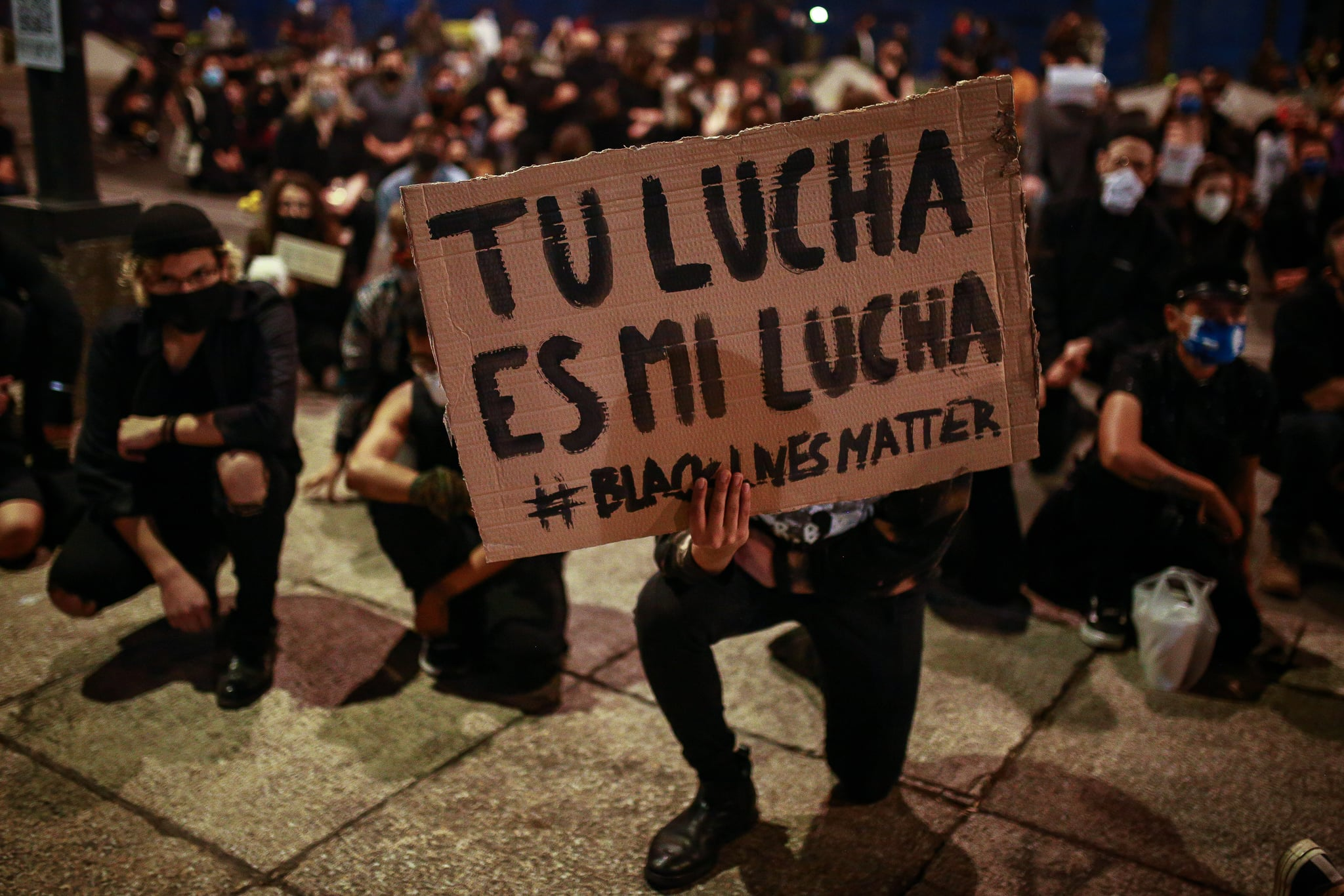 MEXICO CITY, MEXICO - JUNE 04: A banner that reads