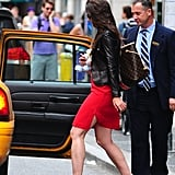 Katie Holmes left her apartment in NYC.