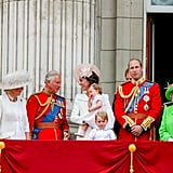 There was much hilarity on the balcony at Trooping the Colour earlier this year.