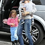 Jennifer Garner Brunches With Violet, Seraphina, and Samuel