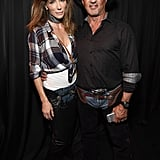 Jennifer Flavin and Sylvester Stallone as Cowboys