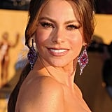 Sofia Vergara looked stunning in a strapless gown.