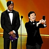 Nick Cannon and Ken Jeong at the 2019 Emmys