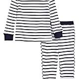 Something Navy Thermal Pajamas For Baby