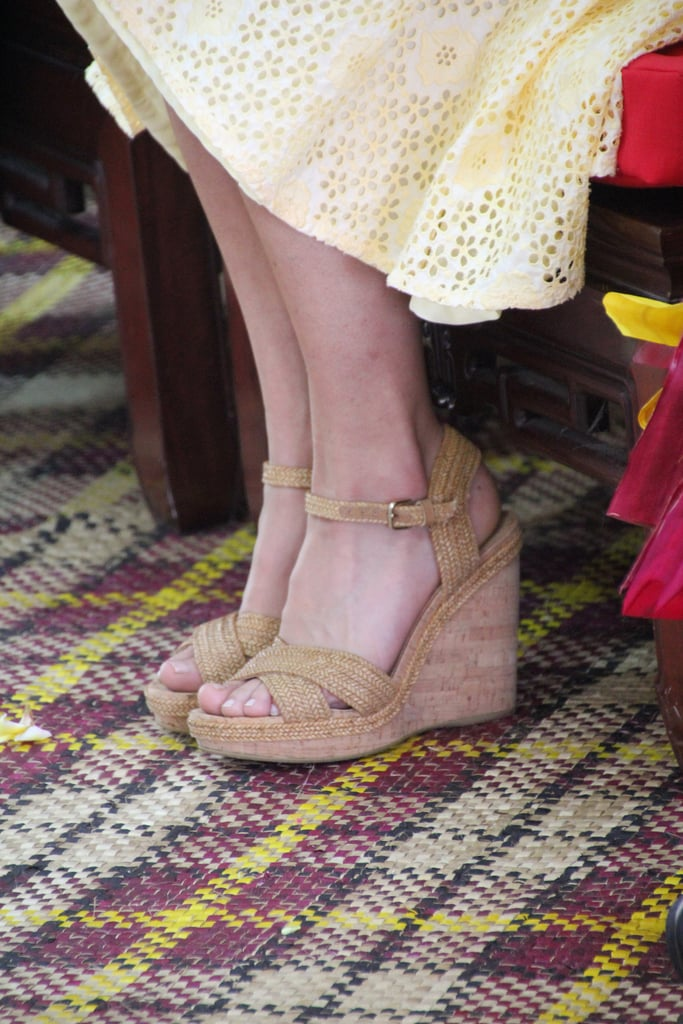 Let's take a close look at those Stuart Weitzman Minx wedges.
