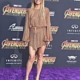 Gwyneth Paltrow's Gold Dress at Avengers Premiere 2018