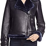 Kenneth Cole Faux Shearling Moto Jacket