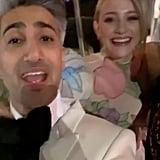 Tan France and Lili Reinhart at the Vanity Fair Oscars Party 2020