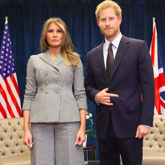 Melania Trump Wearing Checkered Dior Suit