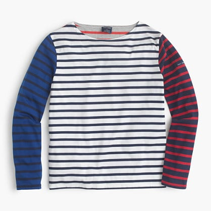 Saint James® for J.Crew colorblock stripe T-shirt  ($128)