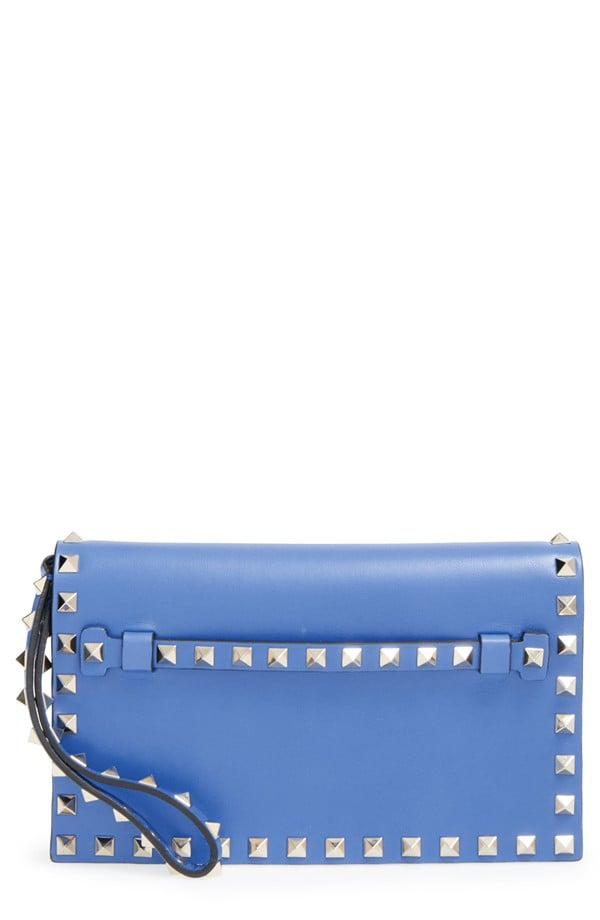 Valentino 'Small Rockstud' Leather Flap Clutch ($1,545)
