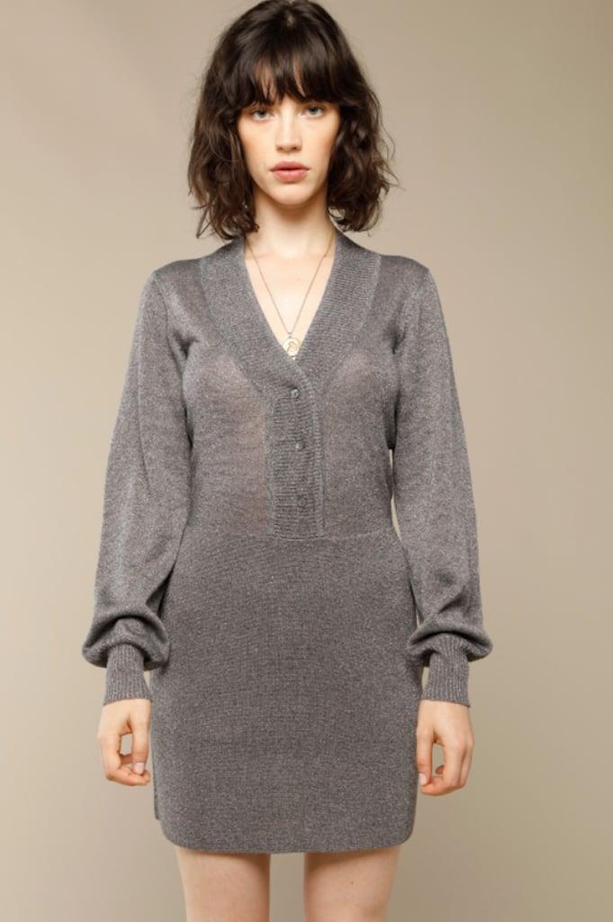 Rouje Alma Dress in Gray Lurex ($180)