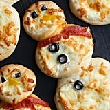 Personal Snowman Pizzas