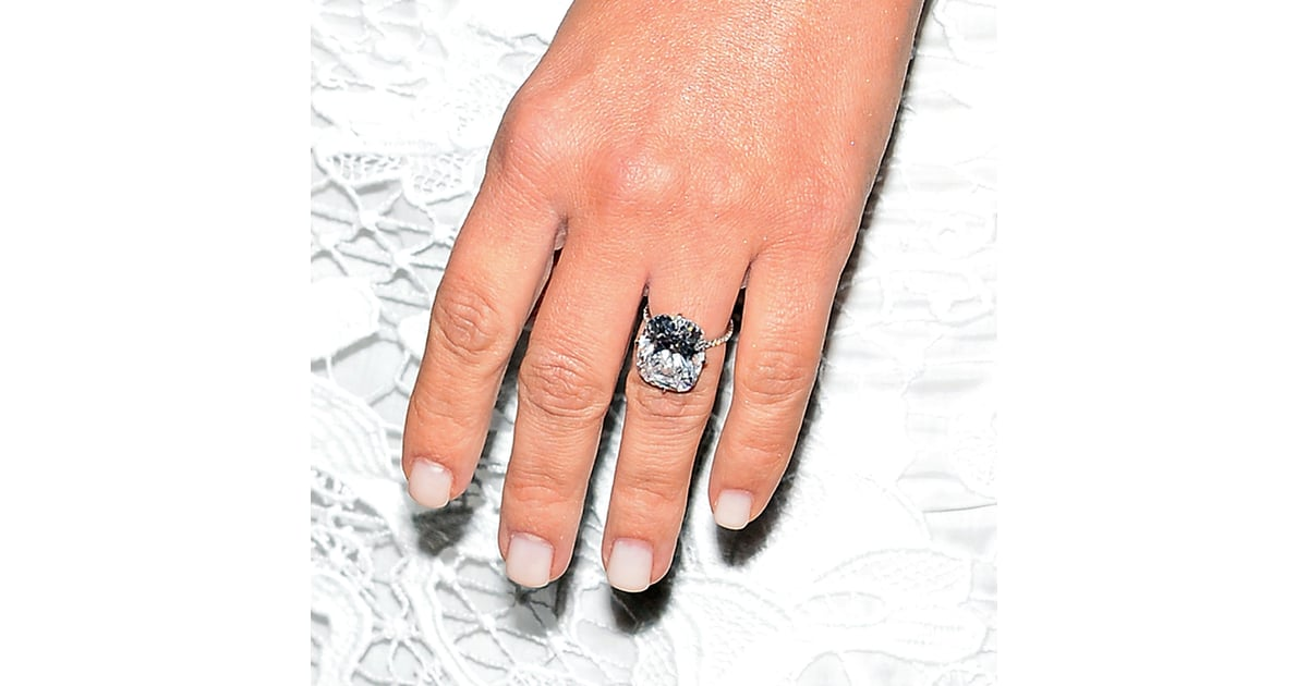 Kim Kardashian Engagement Ring and Manicure | POPSUGAR Beauty