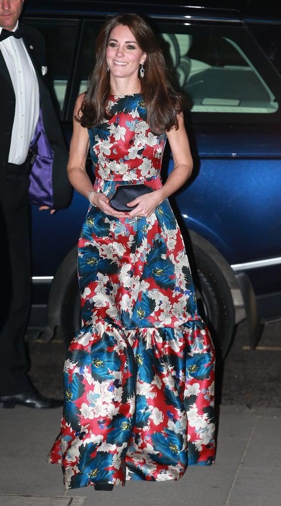 Kate Middleton Wearing Floral-Print Erdem Dress
