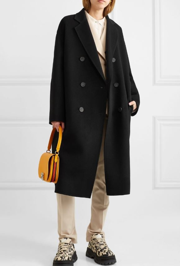 Acne Studios Odethe Double-Breasted Wool and Cashmere-Blend Coat ($2,050)
