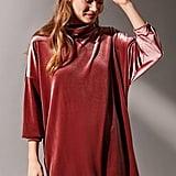 Urban Outfitters Evie Velvet Turtleneck Mini Dress