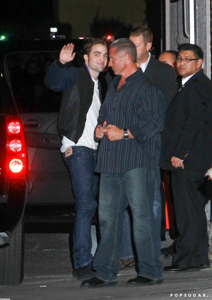 Robert Pattinson was outside Jimmy Kimmel Live.