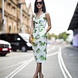 Behold, the power of a great printed dress. We can't get over the sweet florals or the sophisticated cut. Source: Le 21ème   Adam Katz Sinding