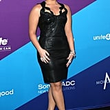 Demi Lovato stunned in black before receiving her award.