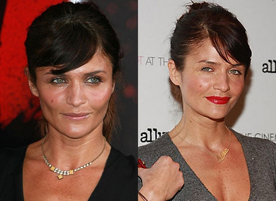 Which Lipstick Do You Like Better on Helena Christensen?