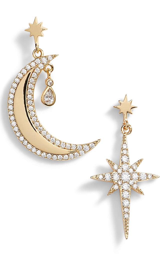 Lulu DK x We Wore What Moon & Star Mismatched Drop Earrings