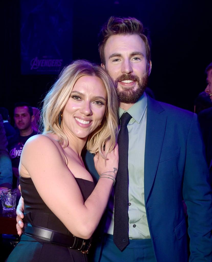 Pictured: Scarlett Johansson and Chris Evans