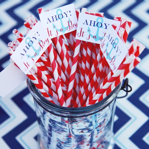 Nautical Blue and Red Baby Shower