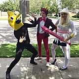 Lemongrab, Prince Gumball, and Fionna (Adventure Time)