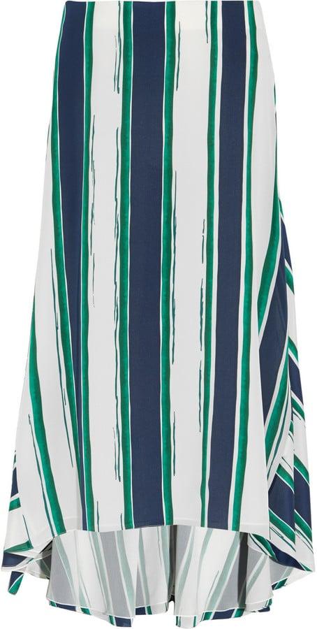 Chloé Asymmetric Striped Silk Midi Skirt ($1,850)