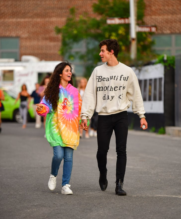 Camila Cabello Liar: Camila Cabello Wearing A Tie-Dye Hoodie With Shawn Mendes