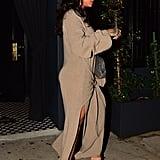 Rihanna Wearing a Brown Dress