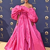 Tracee Ellis Ross Went Big With Her Pink Valentino Emmys Gown