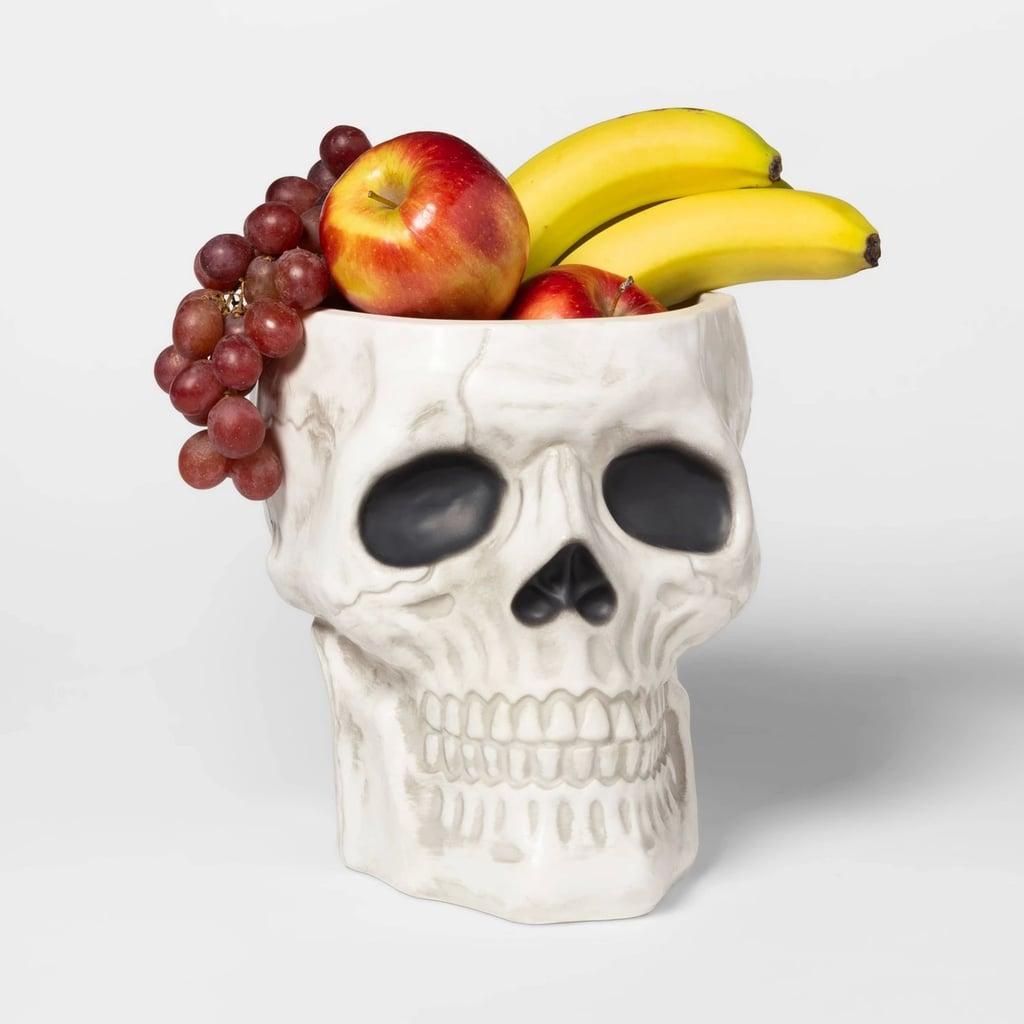 Skull Halloween Serving Bowl