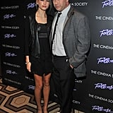Hailey Baldwin went with her father, Stephen Baldwin, to the Footloose premiere in NYC.