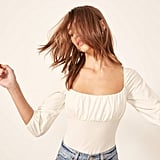 Reformation Mari Top in White