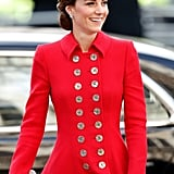 March: Kate looked lovely in red as she attended the Commonwealth Day service.