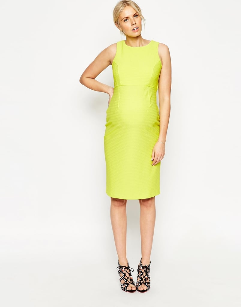 a7bce9105e16f Maternity Textured Bodycon Dress With Cut-Out Back, $79.05 | Stylish ...