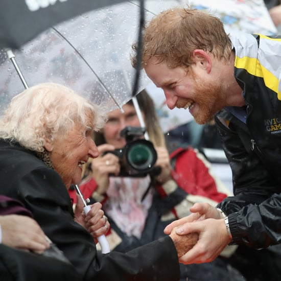 Prince Harry Hugging Elderly Lady in Sydney June 2017