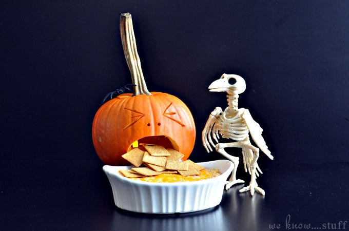 Barfing Pumpkin With Dip