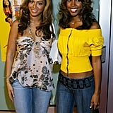 Kelly and Beyoncé supported little sister Solange Knowles at the premiere of her movie debut, Johnson Family Vacation, in 2004.