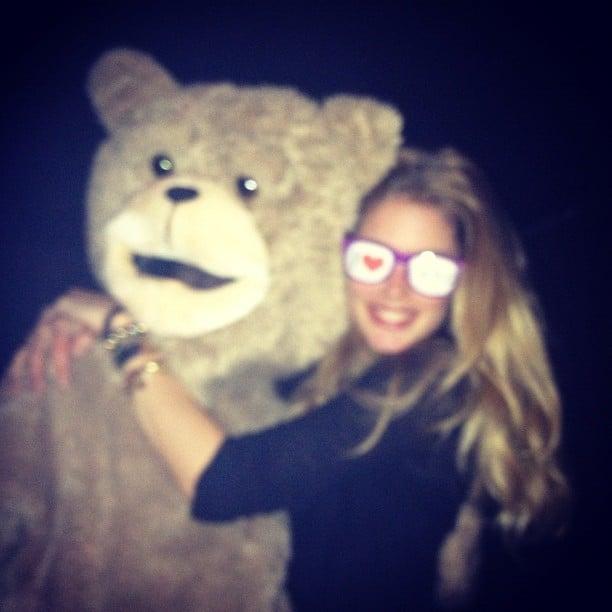 Doutzen Kroes shared a hug with Ted. Source: Instagram user doutzenkroes1