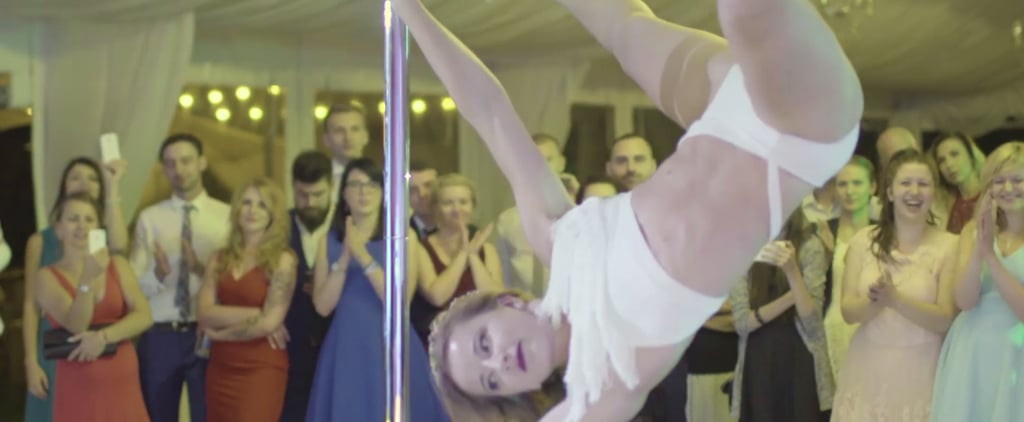 Surprise! This Bride's Wedding Dance Is on a Pole — Watch It Now