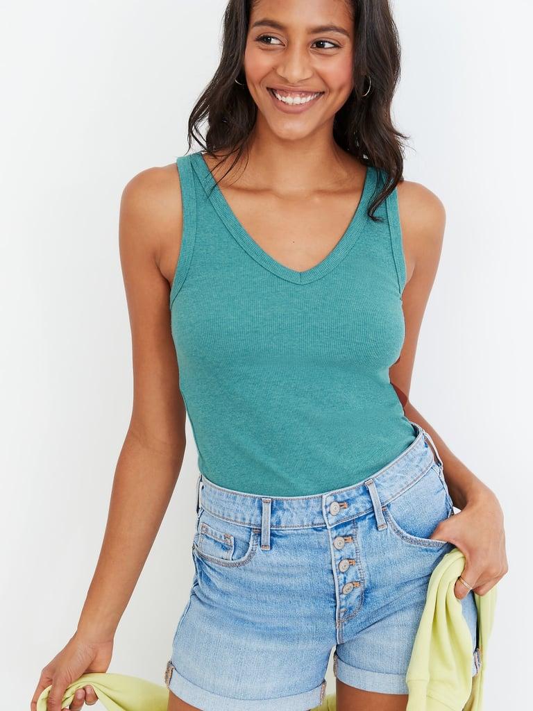 First Layer Slim-Fit Rib-Knit Tank Top