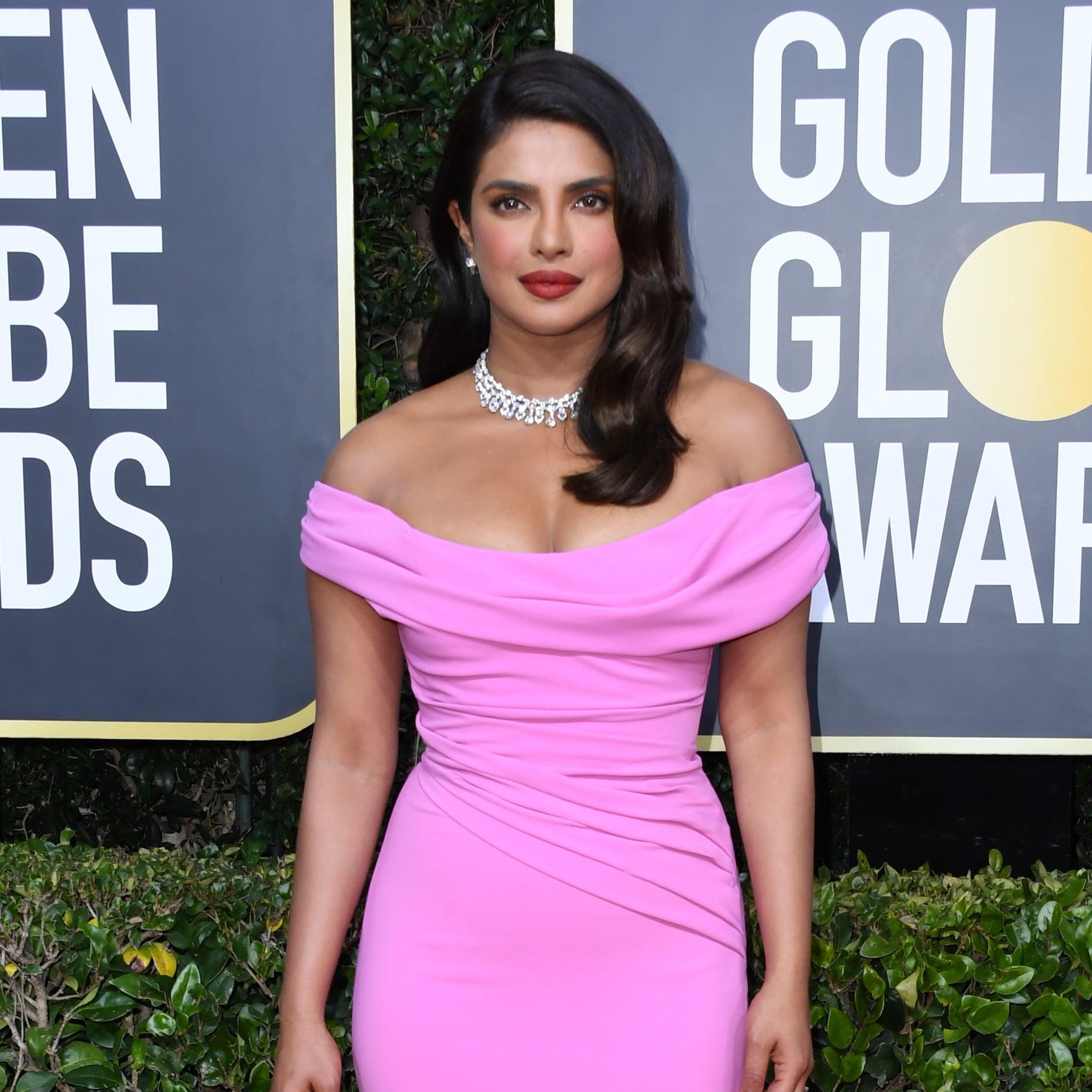 See Priyanka Chopra's Glam Pink Dress at the Golden Globes   POPSUGAR Fashion