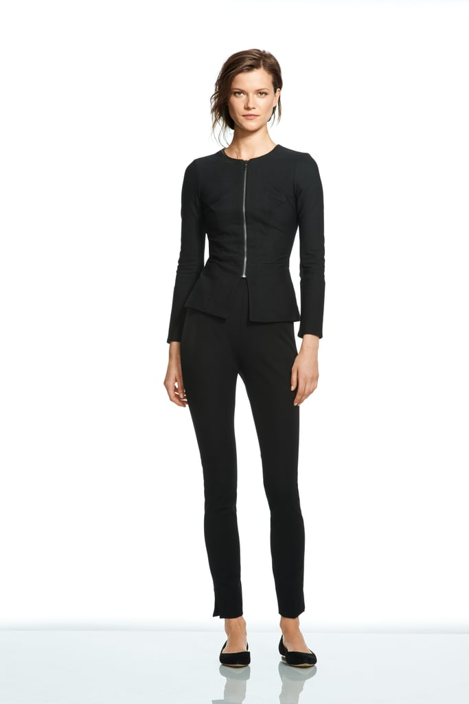 Roland Mouret For Banana Republic Collarless Zip Blazer