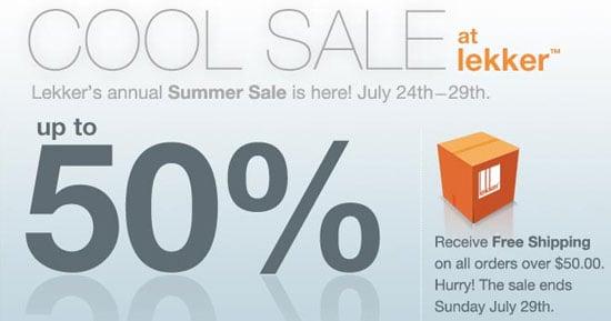 Sale Alert: Up to 50 % Off at Lekker Home