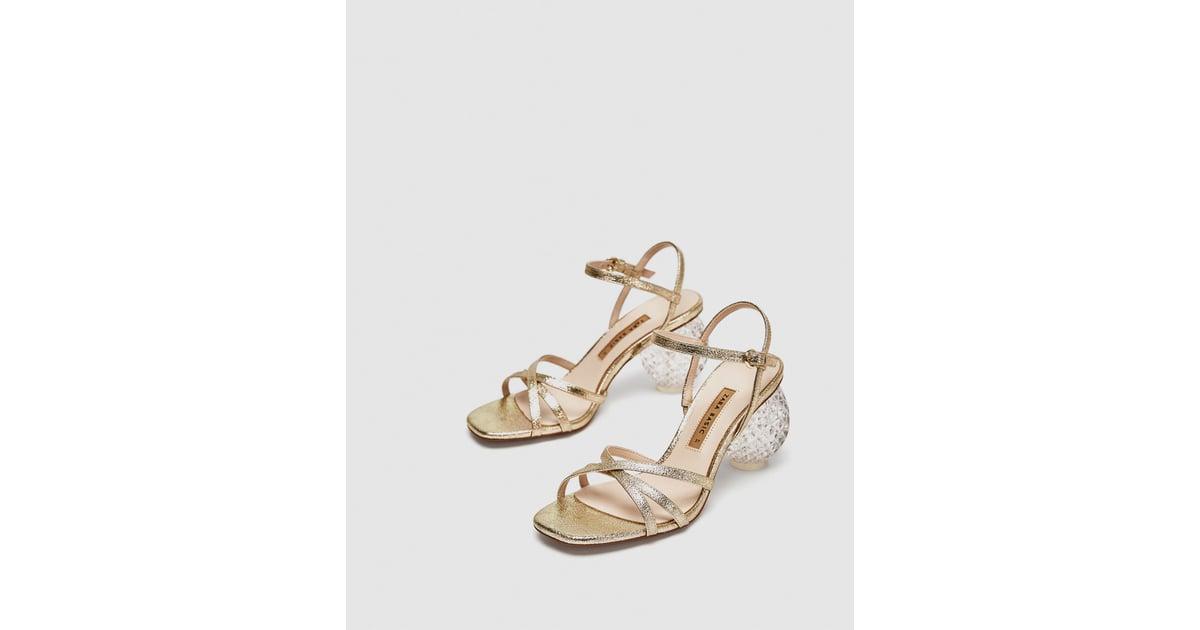 1054ffe2e32 Zara Block Heel Sandals